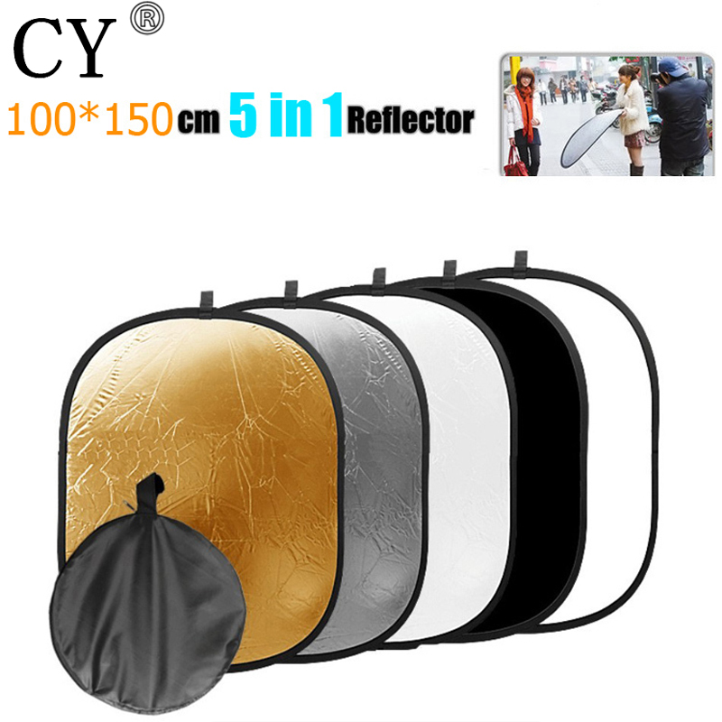 100x150cm 5 in 1 Handheld Portable Collapsible Light Oval Photography Reflector Studio Multi Disc Photo Studio Accessories