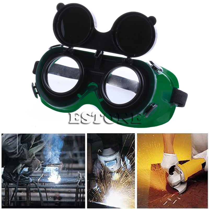 Welding Goggles With Flip Up Darken Cutting Grinding Safety Glasses GreenWelding Goggles With Flip Up Darken Cutting Grinding Safety Glasses Green