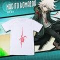 Dangan Ronpa Danganronpa t shirt do Verão de algodão curto-manga comprida T-shirt Ocasional Komaeda Nagito Cosplay Camiseta Tops Tees Anime