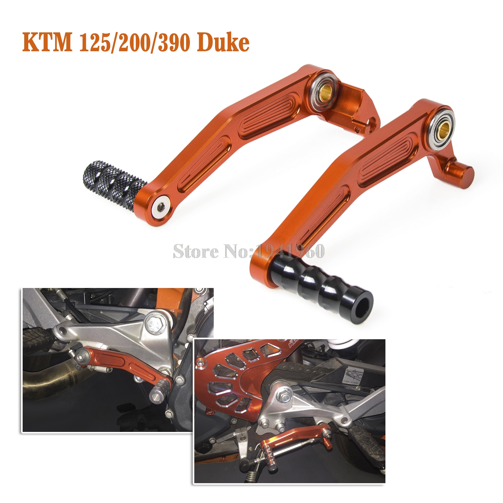 Alumium Motorcycle Gear Shift Pedal Lever Foot Brake Lever For KTM RC 125 200 390 Duke 2011-2013 2014 2015 2016 for ktm duke rc 125 200 390 motorcycle cnc foot brake pedal lever gear shift levers orange