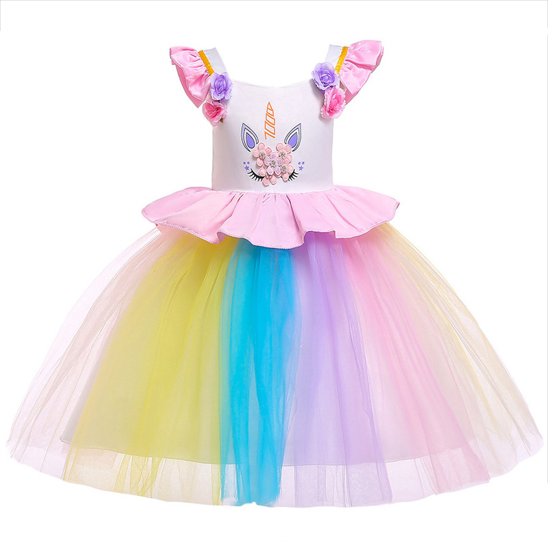 2-10 Years Kids Clothes   Flower     Girl     Dresses   Princess Costume Tutu Gown Kid   Girls   Graduation Ceremony Formal Party Wedding   Dress