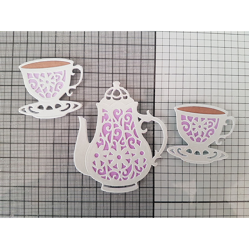 Layered Teapot Cup Metal Cutting Dies For DIY Scrapbooking Embossing Paper Cards Making Decorative Crafts Supplies New 2019 Dies in Cutting Dies from Home Garden