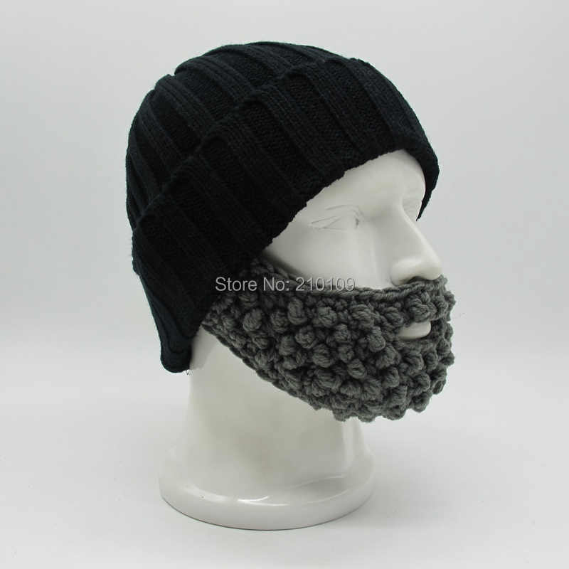 cd1f6e95d87 ... Mr.Kooky Novelty Men s Winter Mustache Hats Beard Beanies Bicycle Mask  Funny Ski Face Warm ...