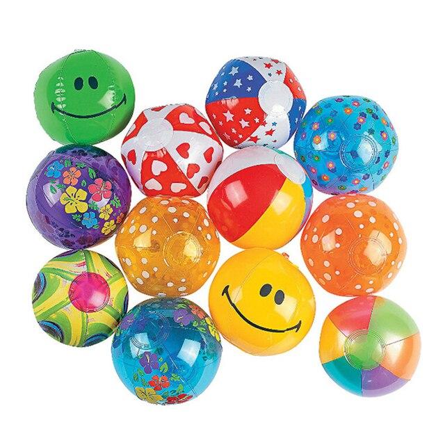 50 pieces/set 13cm Mini Multi Inflatable PVC Ocean Ball Children Beach/Pool/Bath Balls Baby Toys Paty Supply Ball Pits Free Ship