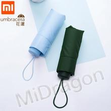 Xiaomi מטרייה 50% פי סופר קצר הגנה מפני שמש מטריות protable Ultralight גשום מטריות עמיד למים Windproof