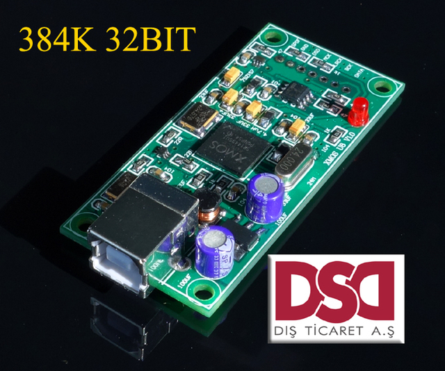 NEWEST XMOS U8 USB 384K 32B I2S SPDIF output,support DSD for es9018 DAC compatible Amanero usb iis