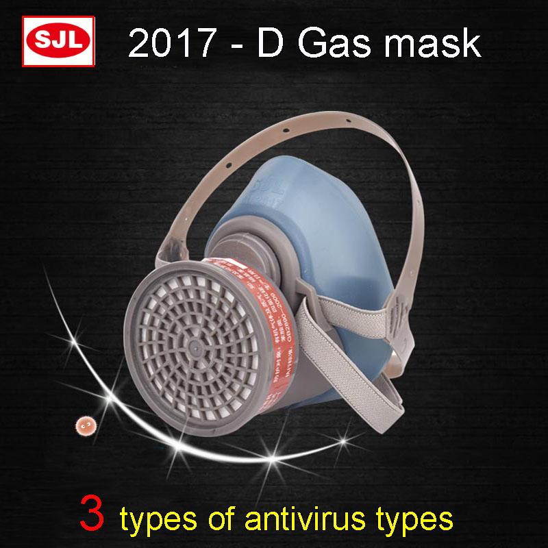 SJL respirator gas mask high quality Silica gel Self-priming protective mask 3 models against Various Toxic gas respirator mask high quality respirator gas mask provide silica gel gray protective mask paint pesticides industrial safety mask