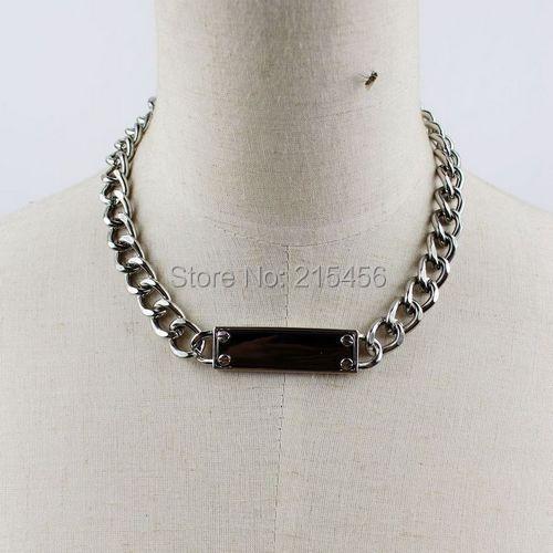 a292624d936b N2015 ID collar de cadena chunky ID collar - a197