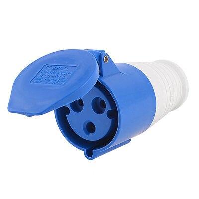 Ac 220v-250v 32a 2p e iec309-2 de montaje del panel Industrial Socket Azul Blanco