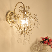 modern chrome silver wall lamp sconce gold foyer living bedroom bedside wall lamp light sconce with crystal