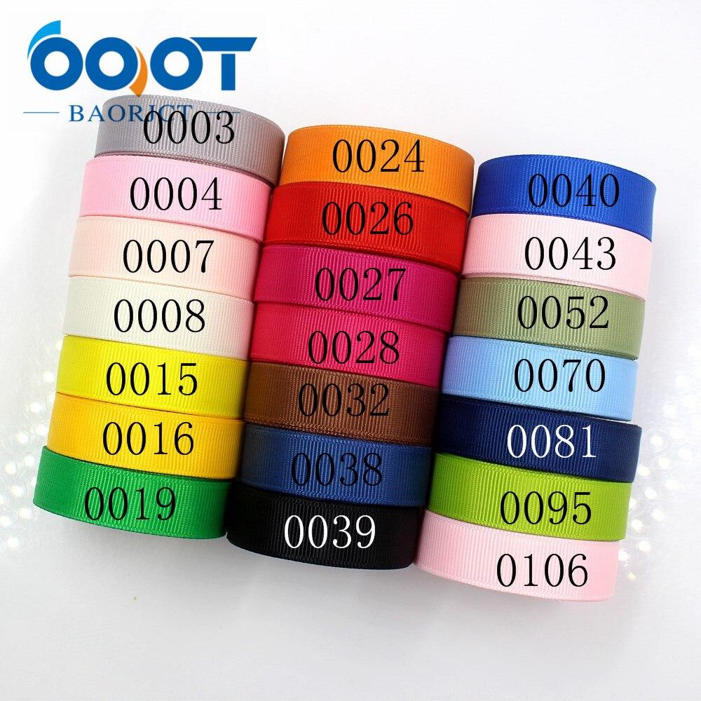 OOOT BAORJCT 181011-L16mm-1,16mm 10yards Solid Color Ribbons Thermal Transfer Printed Grosgrain,DIY Clothing Handmade Materials
