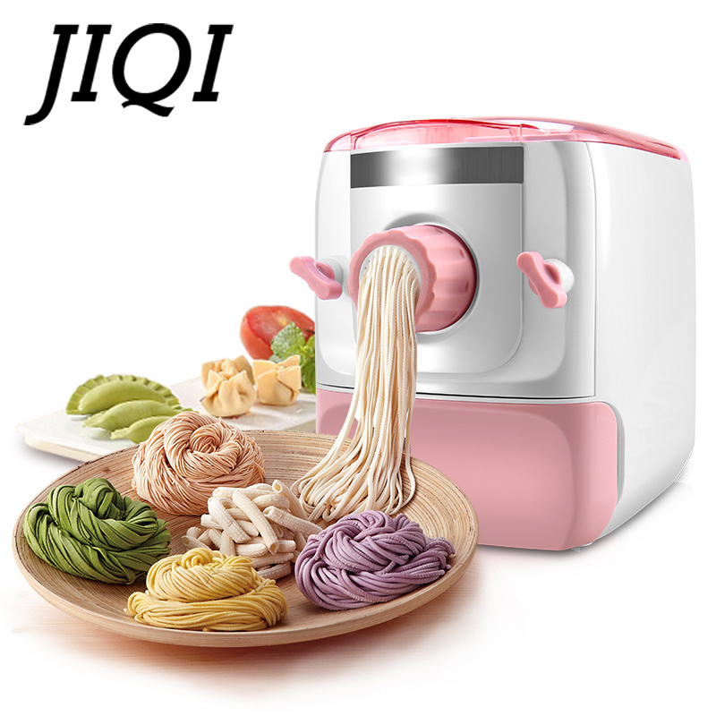 JIQI Household Electric Noodles Making Pressing Machine Pasta Maker Automatic Noodle Cutting Knead Dough Mixer Dumpling Pastry