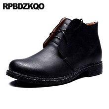 Высокие формальные зимние мужские ботинки на меху; черные осенние ботинки для вечеринок; Сетчатое платье из натуральной кожи на шнуровке; деловые ботинки из искусственной кожи