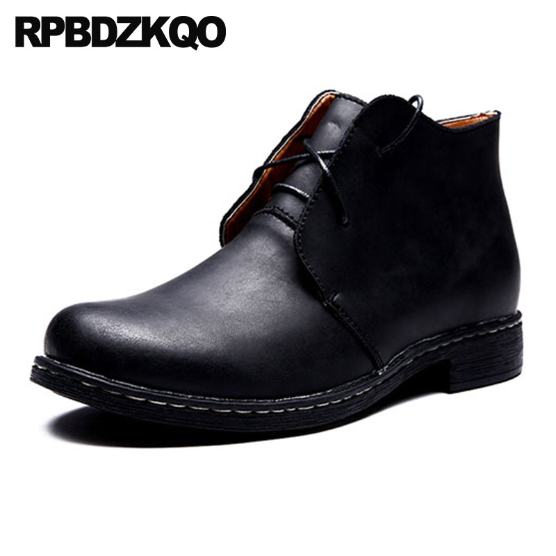 High Top Formal Winter Men Boots With Fur Black Fall Party Shoes Full Grain Dress Genuine Leather Lace Up Business Booties Faux christmas faux fur fitted velvet short party dress with hat