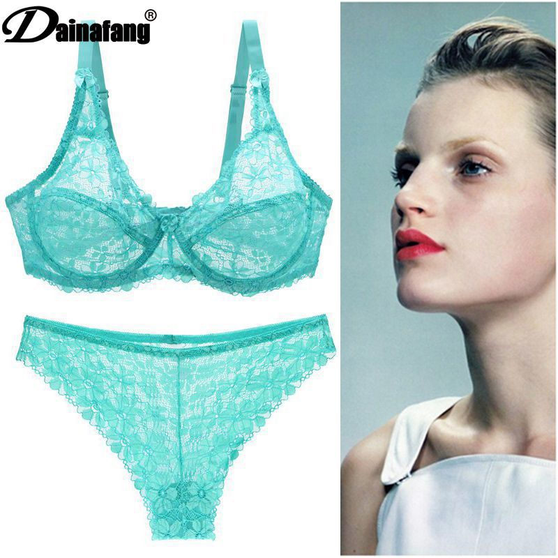 Large size bra set sexy underwear set female bra lace side breathable ultra thin bra set multi color optional steel ring in Maternity Nursing Bras from Mother Kids
