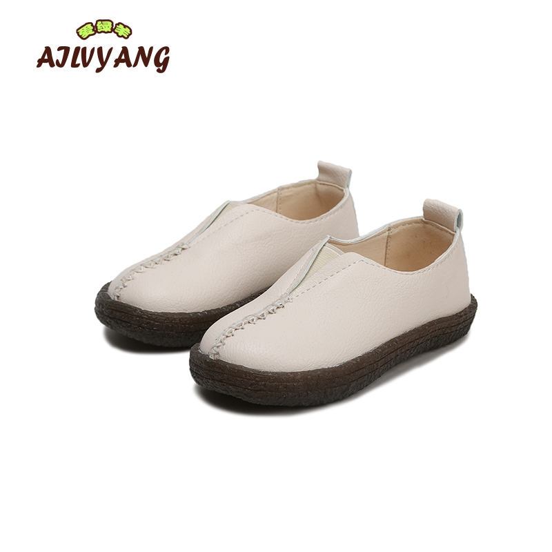 Kids Boys Leather Shoes Children Spring Summer Fashion Retro Leather Shoes Toddler Girls Soft Flats Sneakers Boys Shoes