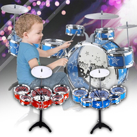 Hot Sale Kid Jazz Beating Drum 5 Drums layset Percussion Musical Instrument Giftsfor KidsHand Knocking Percussion Instruments