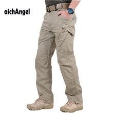 IX9 Militar Tactical Cargo Pants สู้กับผู้ชาย SWAT ทหารกางเกง Sweatpants ชายกางเกง