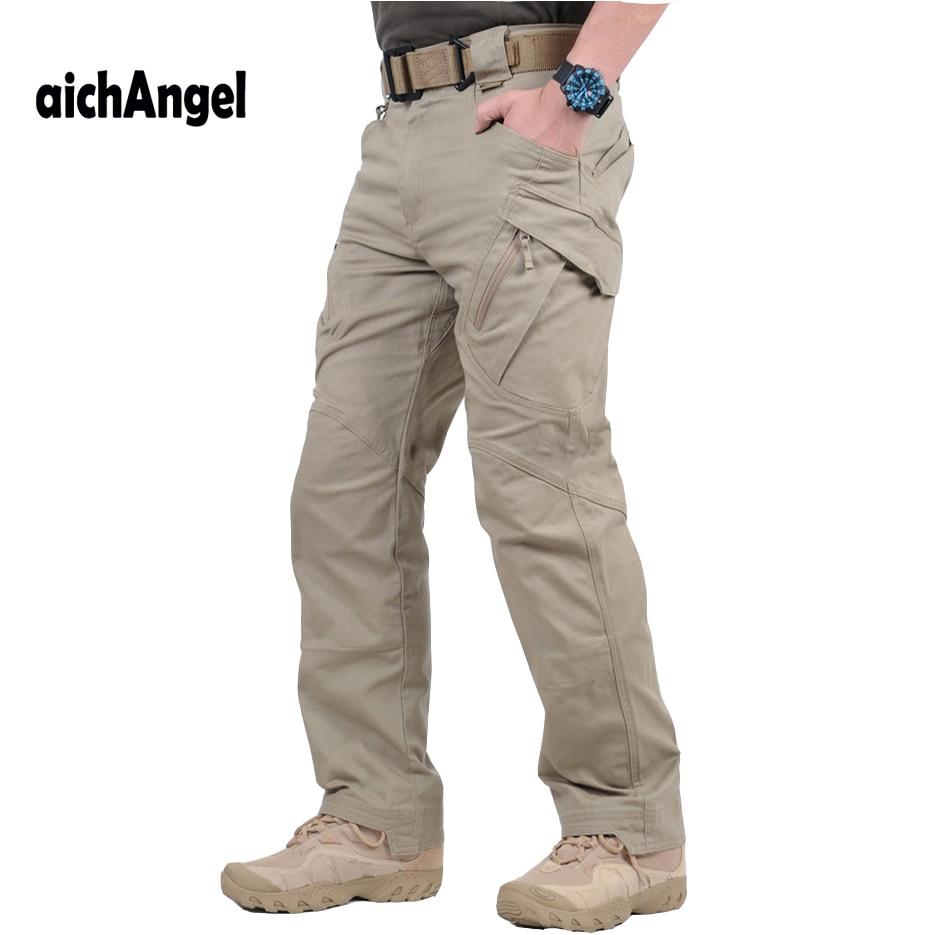 Ix9 militar tático calças de carga dos homens combate swat exército militar calças moletom homem