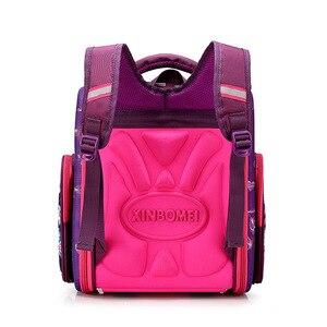 Image 4 - Детский рюкзак для начальной школы для мальчиков и девочек, ортопедический ранец с гоночными машинами, школьные портфели с бабочками