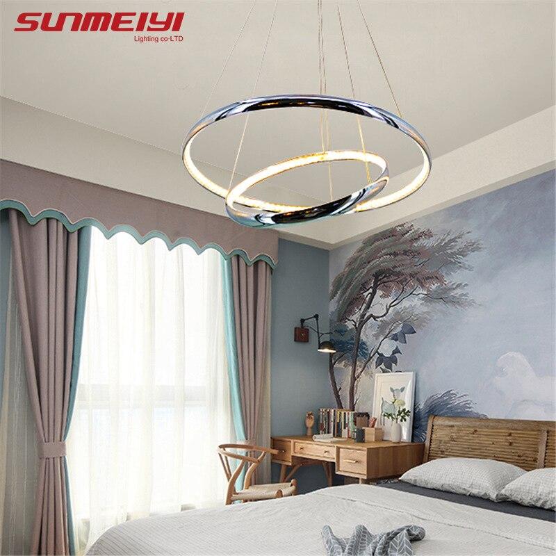 Современные хрустальные Алюминий светодиодный подвесные светильники внутри излучать свет потолок гостиной висит Кухня светильник подвес...