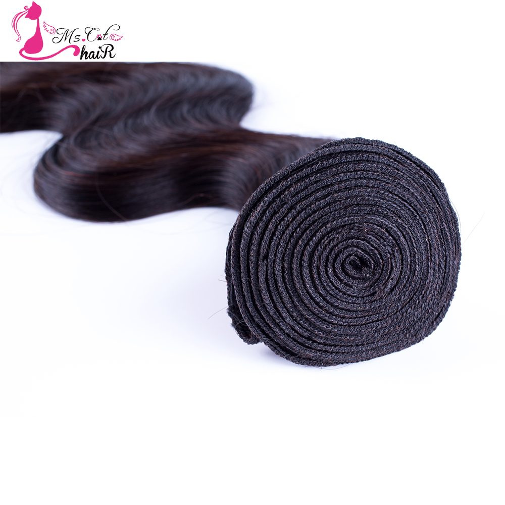 Ms Cat Hair Malaysian Body Wave Hair Bundles Remy Hair 100% Human Hair Weave Natural Color 8 Inches - 26Inches Can Order 4PC/lot
