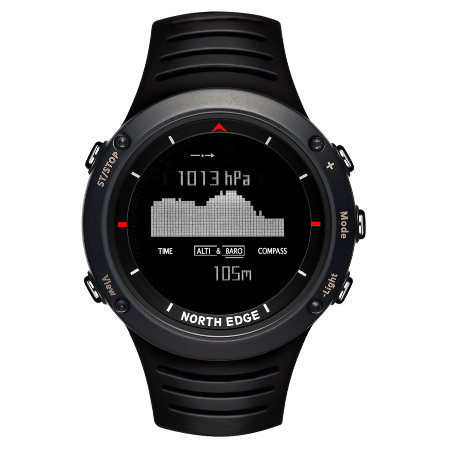 Men's Sports Digital Smart Watch Hours Running Swimming Hiking Compass Altimeter Barometer Weather Thermometer. north edge men sports watch altimeter barometer compass thermometer weather forecast watches digital running climbing wristwatch
