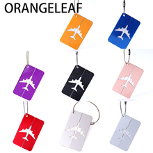 Aluminium Alloy Luggage Tags Airplane Shape Square Luggage Luggage Checked Boarding Elevators Travel Accessories