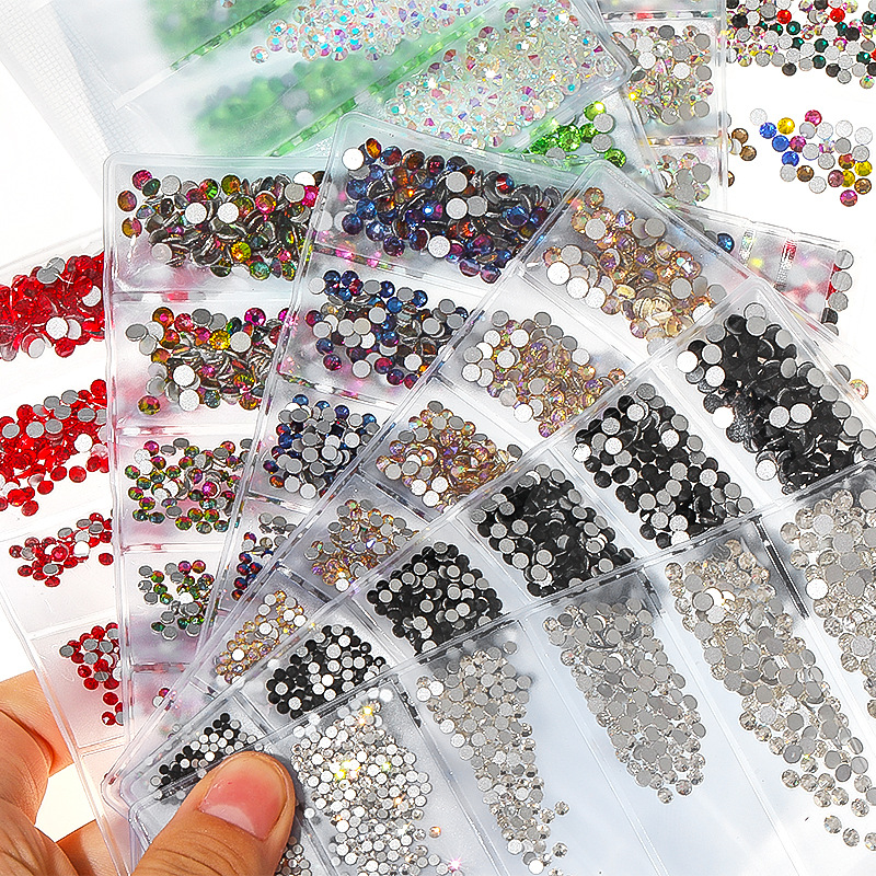 Detail Feedback Questions about 1 Pack Flatback Glass Strass Nail  Rhinestones Mixed SS4 SS16 Nail Art Decoration Stones Mermaid Gem Manicure  Tip Accessories ... eb584adc2824