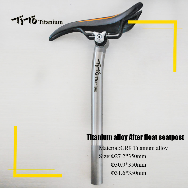 все цены на TiTo titanium alloy after float seatpost road bike MTB bike seatpost bicycle parts 27.2mm/30.9mm/31.6mm