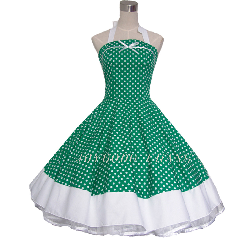 Woman Summer Floral Print Retro 50s 60s Swing Robe Vintage Dress ...