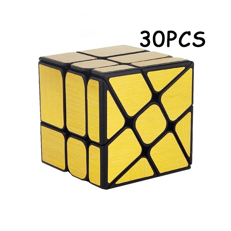 30 PCS MoYu Or Miroir Magique cube Étrange-forme Cubo magico Professionnel Vitesse Twist Puzzle Neo Cube Éducation Jouets pour Enfants