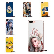 Transparent TPU Shell Cases For Sony Xperia Z Z1 Z2 Z3 Z5 compact M2 M4 M5 C4 E3 T3 XA Huawei Mate 7 8 Y3II Billie Eilish Khalid(China)