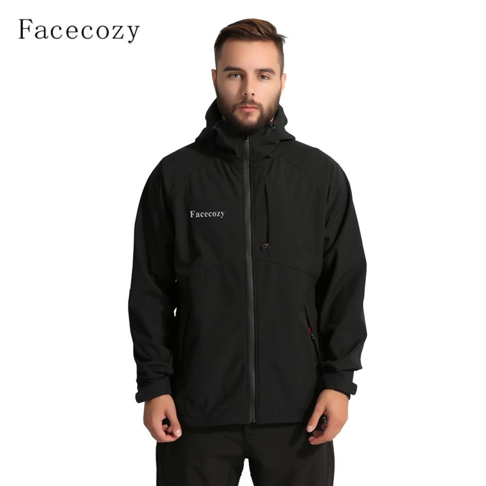 Facecozy Men Winter Hiking Jackets Fleece Waterproof ...