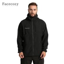 Facecozy Men Winter Hiking Jackets Fleece Waterproof Breatha