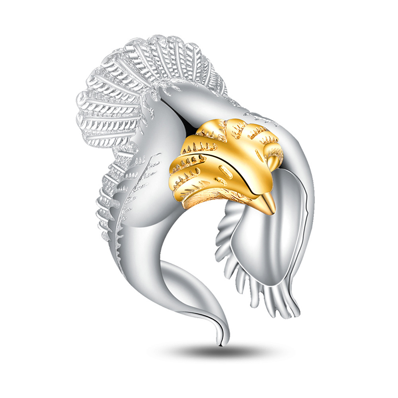 XIYANIKE 2017 Golden Eagle Domineering Personality Ring 925 Sterling Silver For Men Or Women Wedding Ring Fashion JewelryVRS2305