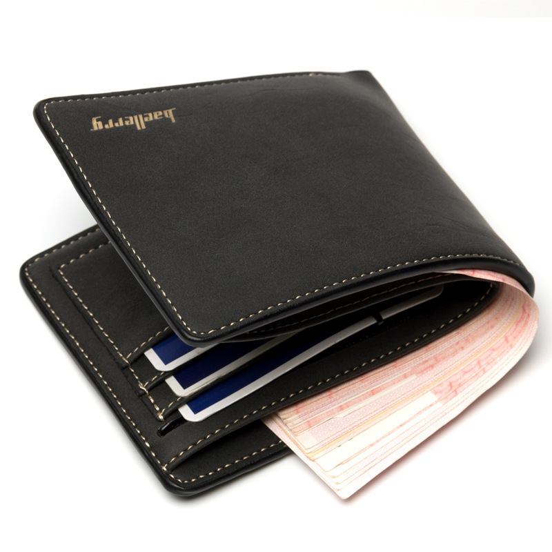 Tide Men's Wallets Short Paragraph Retro Quality Soft Scrub Pu Leather Korean Version Youth Student Multi-card Holder Bit Wallet fundamentals of physics extended 9th edition international student version with wileyplus set