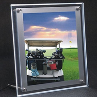 A4 Single Sided Tabletop Led Light Display Panel,Illumianted Acrylic Picture & Photo Frames for Cafe,Tea,Retail Stores