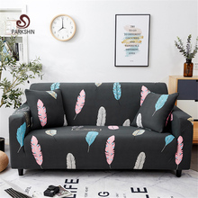 Cubierta del sofá de LICRA elástico de la pluma nórdica de parkespín fundas de sofá todo incluido para la cubierta del sofá Seccional de la sala de estar