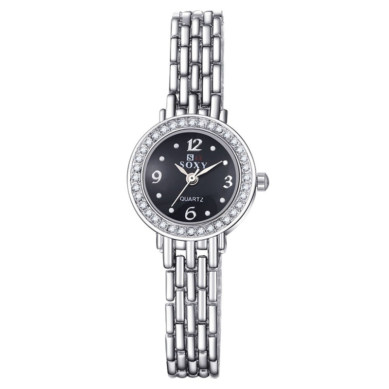 Fashion Clock Women Silver Watch Women Bracelet Wristwatch Rhinestone Elegant Watch Montre Femme Relogio Feminino Prata