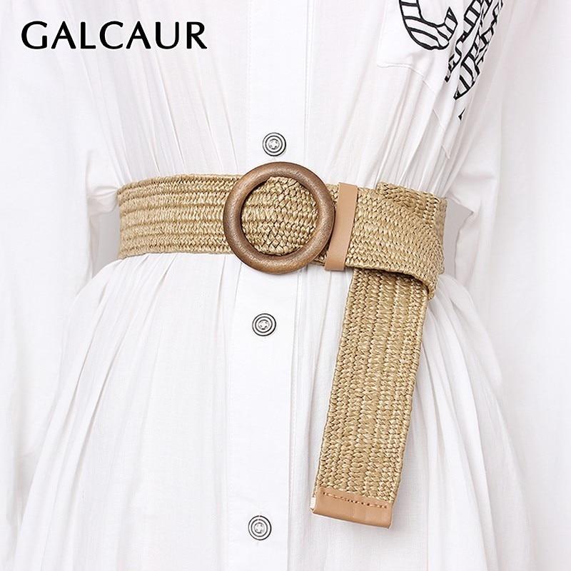 GALCAUR Summer Wide High Waist Vintage Dresses Accessories Fashion New Tide Belt Female Striped Belts For Women 2020