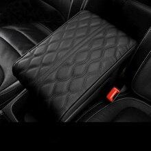 PU almohadilla Reposabrazos de coche de cuero cubierta Universal Centro consola onda bordado Auto asiento reposabrazos caja de protección cojín soporte de las manos