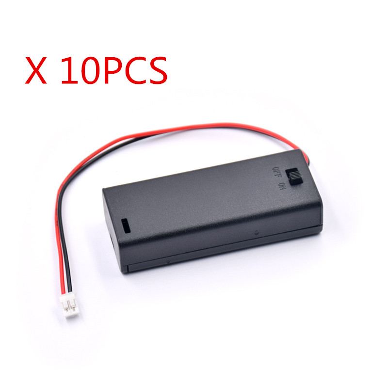 10pcs Micro:bit Battery Holder Case Cover Shell With Switch For 2pcs AAA Batteries For Microbit Development Board