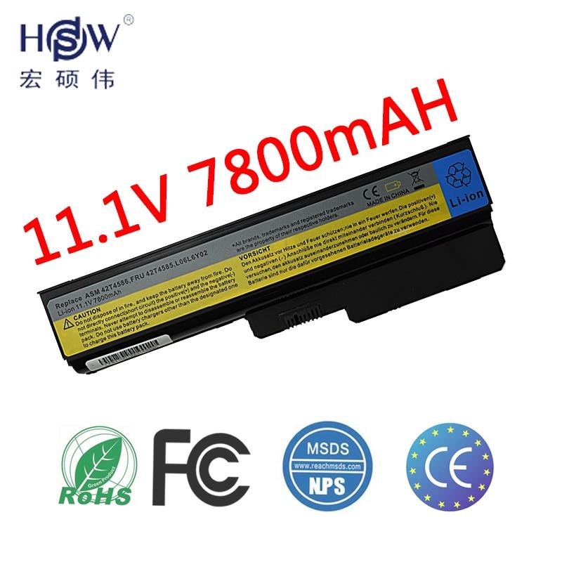 HSW Аккумулятор для ноутбука lenovo G550 G430 G450 G530 N500 G430 Z360 L06L6Y02 L08L6C02 L08O6C02 L08S6C02 L08S6Y02 51J0226 батарея