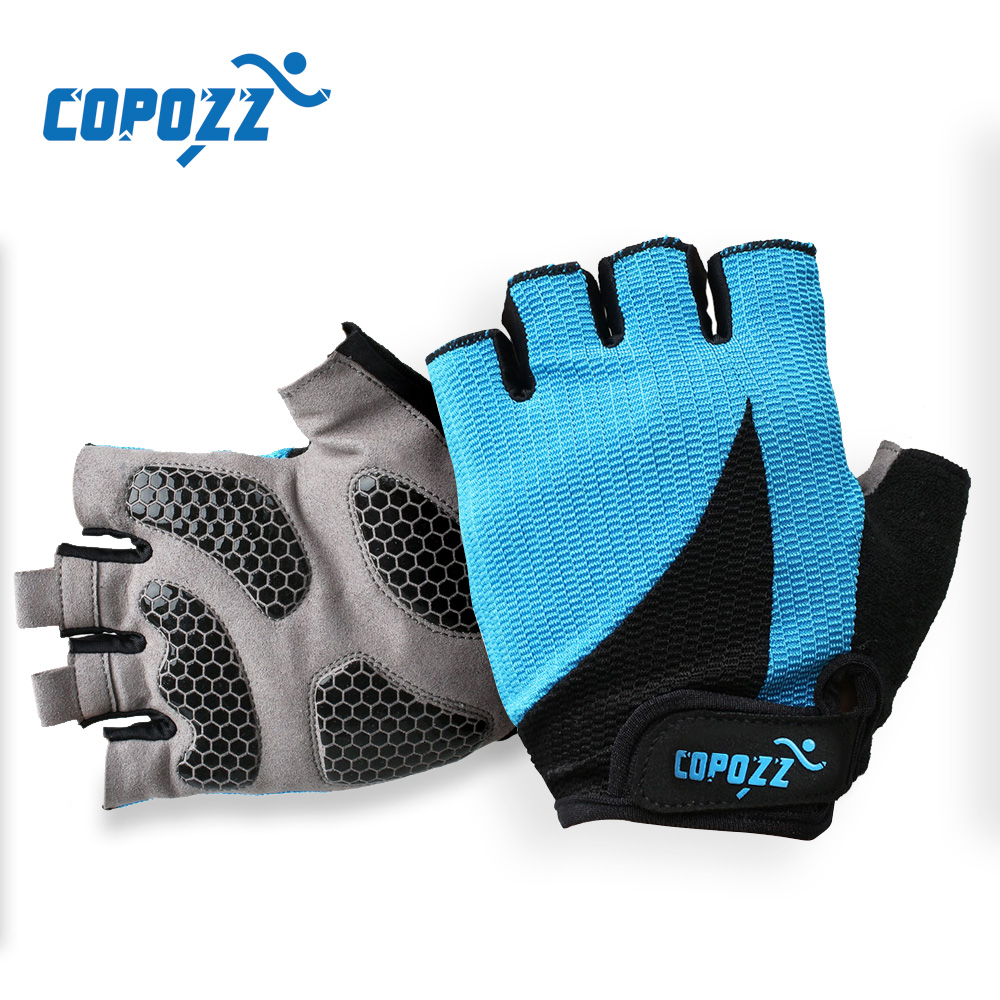 COPOZZ Cycling Gloves Half Finger Men Summer Sport Shockproof Bike Gloves GEL MTB Anti-sweat Bicycle Gloves Guantes Ciclismo coolchange cycling gloves half finger mens women s summer bicycle sport gloves breathable nylon mtb bike gloves guantes ciclismo
