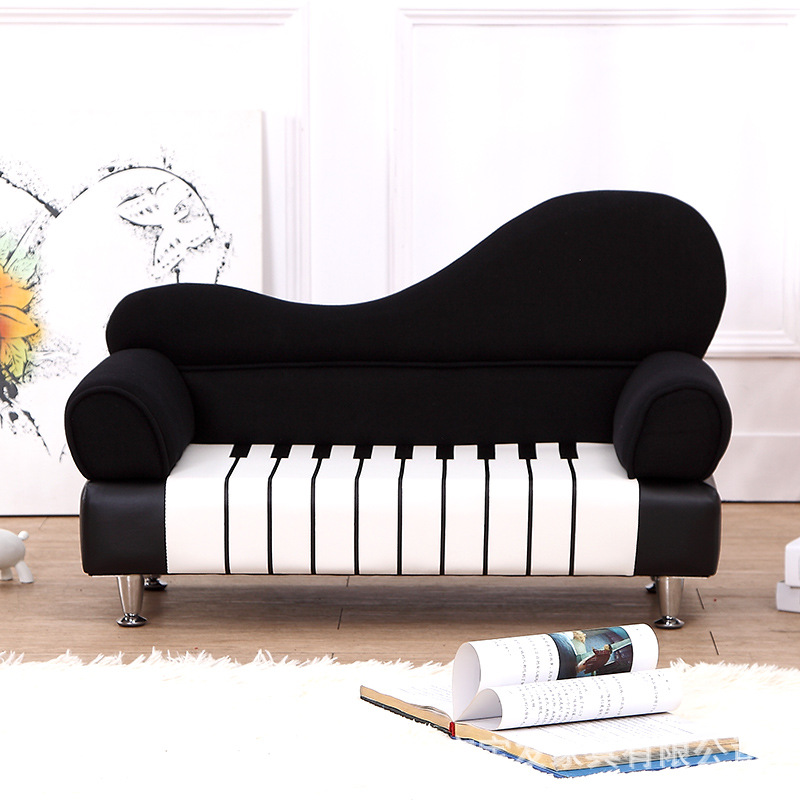 15%, Promotion Enfants/enfants PU piano canapé meubles salon/lit chambre 2 siège En Bois cadre éponge de remplissage