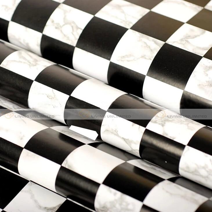 charming papier peint damier noir et blanc #11: aliexpress