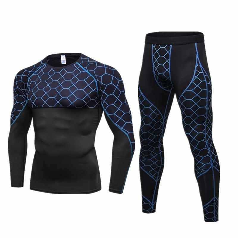 Sepeda Motor Pria Celana Dalam Pakaian Olahraga Cepat Kering Keringat Kebugaran Lapisan Dasar Ketat Atasan & Celana Olahraga Pakaian Dalam
