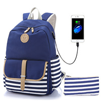 Mochila Feminina Backpack Priced Direct Selling Han Edition Navy Sail Cloth Bag Spot Undertakes To Female High School Students
