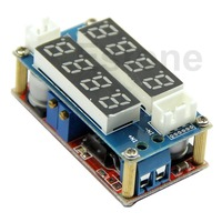 A96 Free Shipping CC CV 5A Adjustable Power Step Down Charge Module LED Driver Voltmeter Ammeter